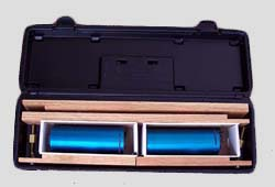 Sensors packed in carrying case